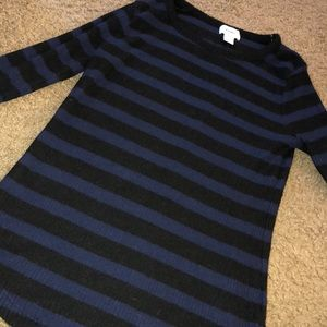 Black & Blue Long Sleeved Sweater